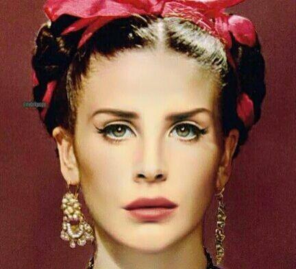 Face: Lana Del Rey | Body: Frida Kahlo #LDR #edit