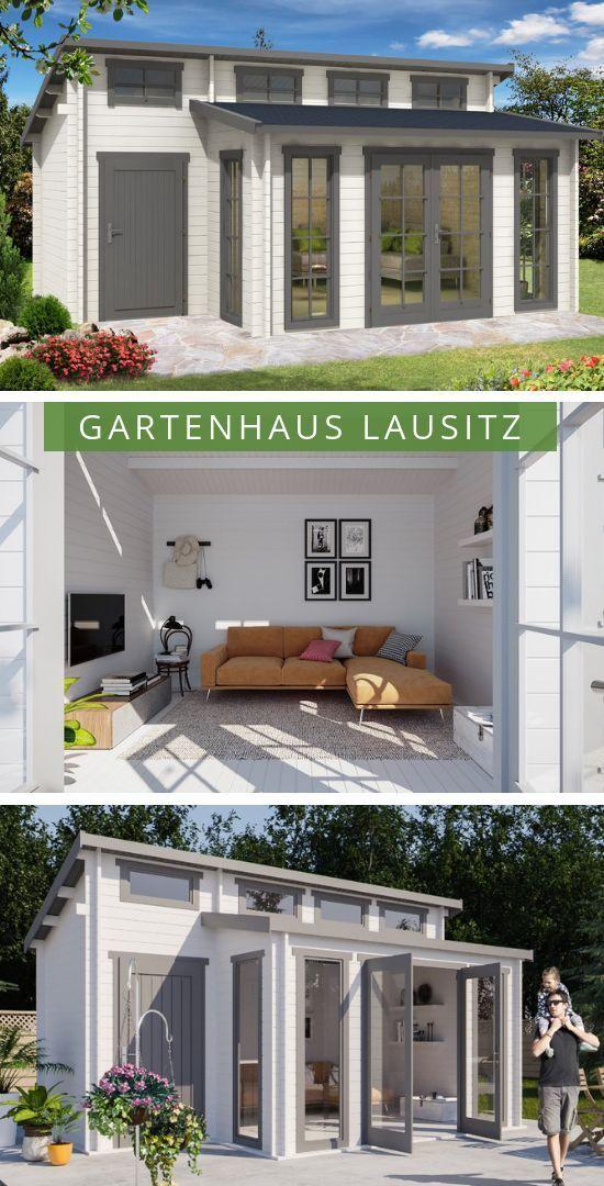 Gartenhaus Lausitz40 ISO mit Anbau Das extragroße