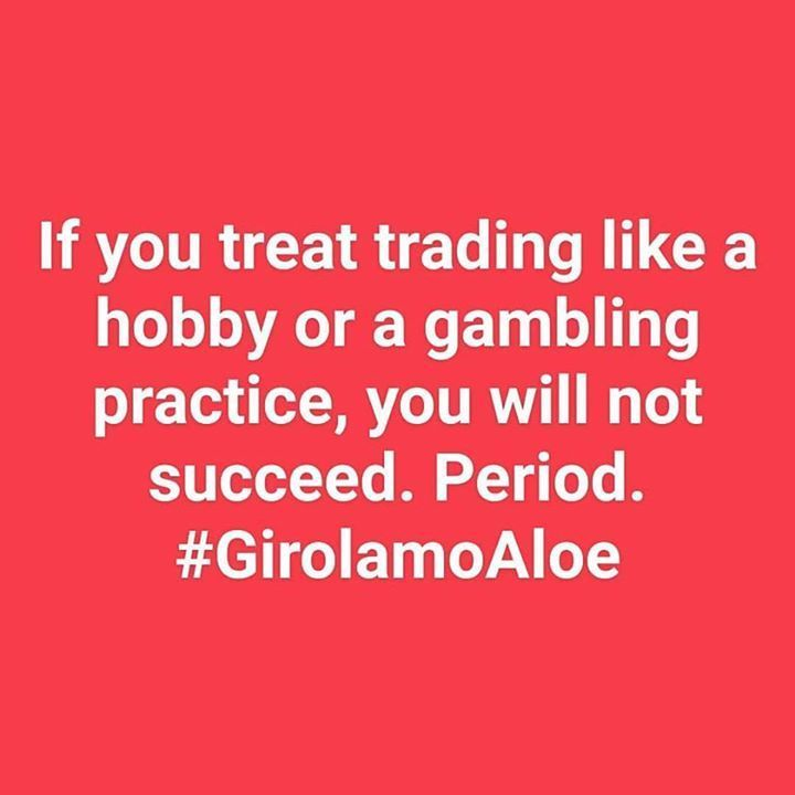 """http://girolamoaloe.com """"If you treat trading like a hobby or a gambling practice you will not succeed. Period."""" #GirolamoAloe LINK UP  I am a Trader of #ProfitingMe  #SupplyAndDemand #Trading  #ForexMentor #Trading #Futures #Indexes #Forex #Stocks #Commodities #PriceAction #WallStreet #Stockstrader #Forextrader #ForexTrading #ForexLifestyle #ForeignExchange #TraderLifestyle #StockMarket #ForexMarket #ForexLife #ForexSignals #TechnicalAnalysis #CurrencyTrader #CurrencyAnalyst #SwingTrading…"""