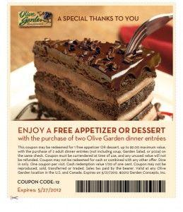 olive garden coupon free appetizer or dessert - Olive Garden Medford