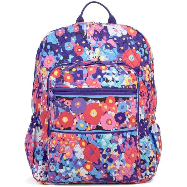 Vera Bradley Campus Backpack in Impressionista ( 109) ❤ liked on Polyvore  featuring bags, backpacks, impressionista, pocket backpack, zip bags, ... 9456a022ce