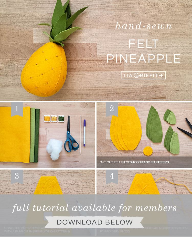 Felt Pineapple - Lia Griffith