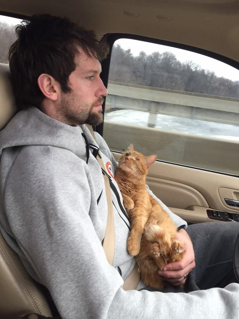 ...and he has a one-eyed cat as a driving companion.... #stlblues