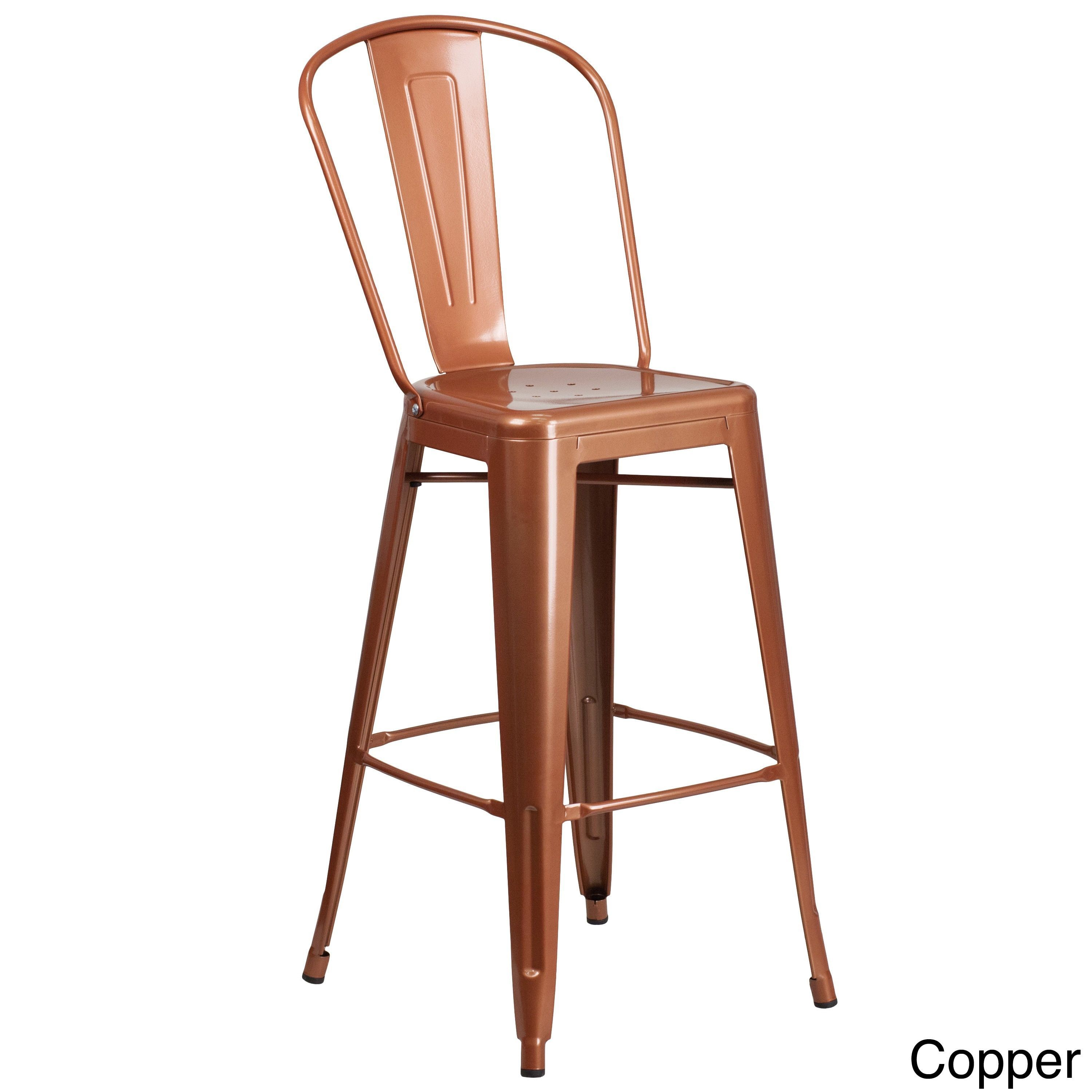Flash Furniture 30 High Barstool Purple Metal Outlet And