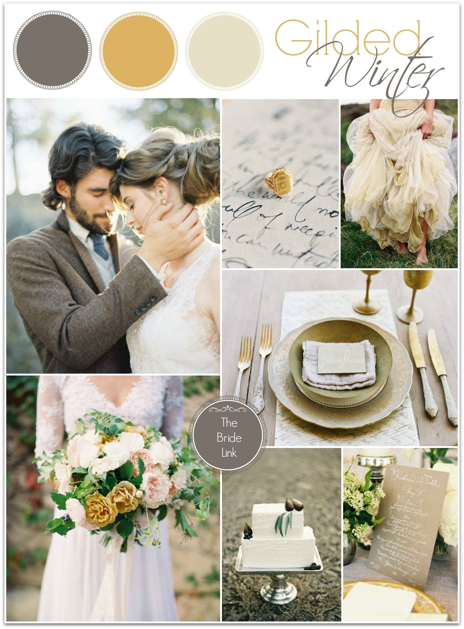 Gold And Gray Winter Wedding Ideas February Colors