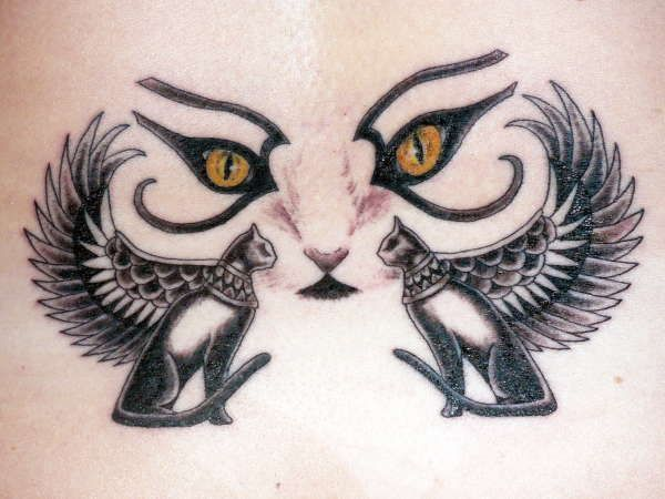 10 Ancient Egyptian Tattoo Designs Egyptian Cat Tattoos Egypt