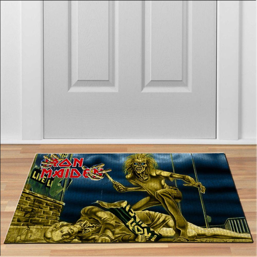 awesome iron maiden eddie heavy metal band Doormat Rock Heavy Metal ...
