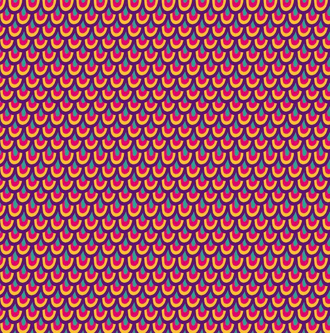 Retro Pattern by Clau Pinha for Painappuru