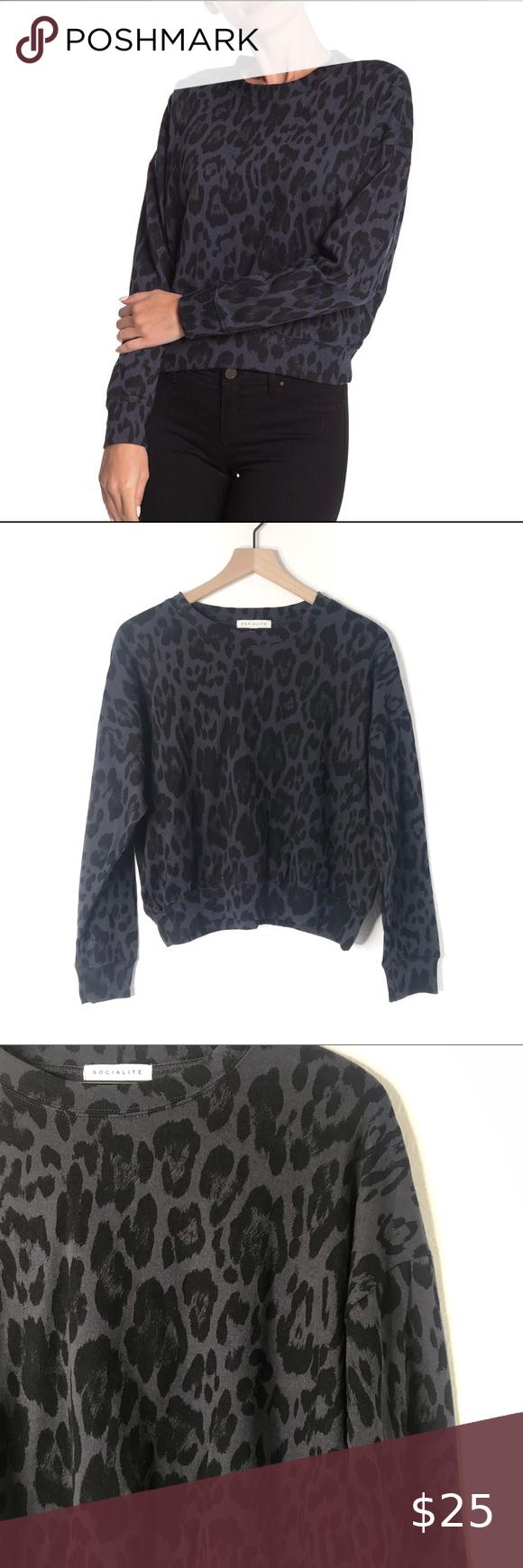 Nwt Socialite Dark Leopard Print Sweatshirt In 2020 Leopard Print Sweatshirt Printed Sweatshirts Leopard Print [ 1740 x 580 Pixel ]