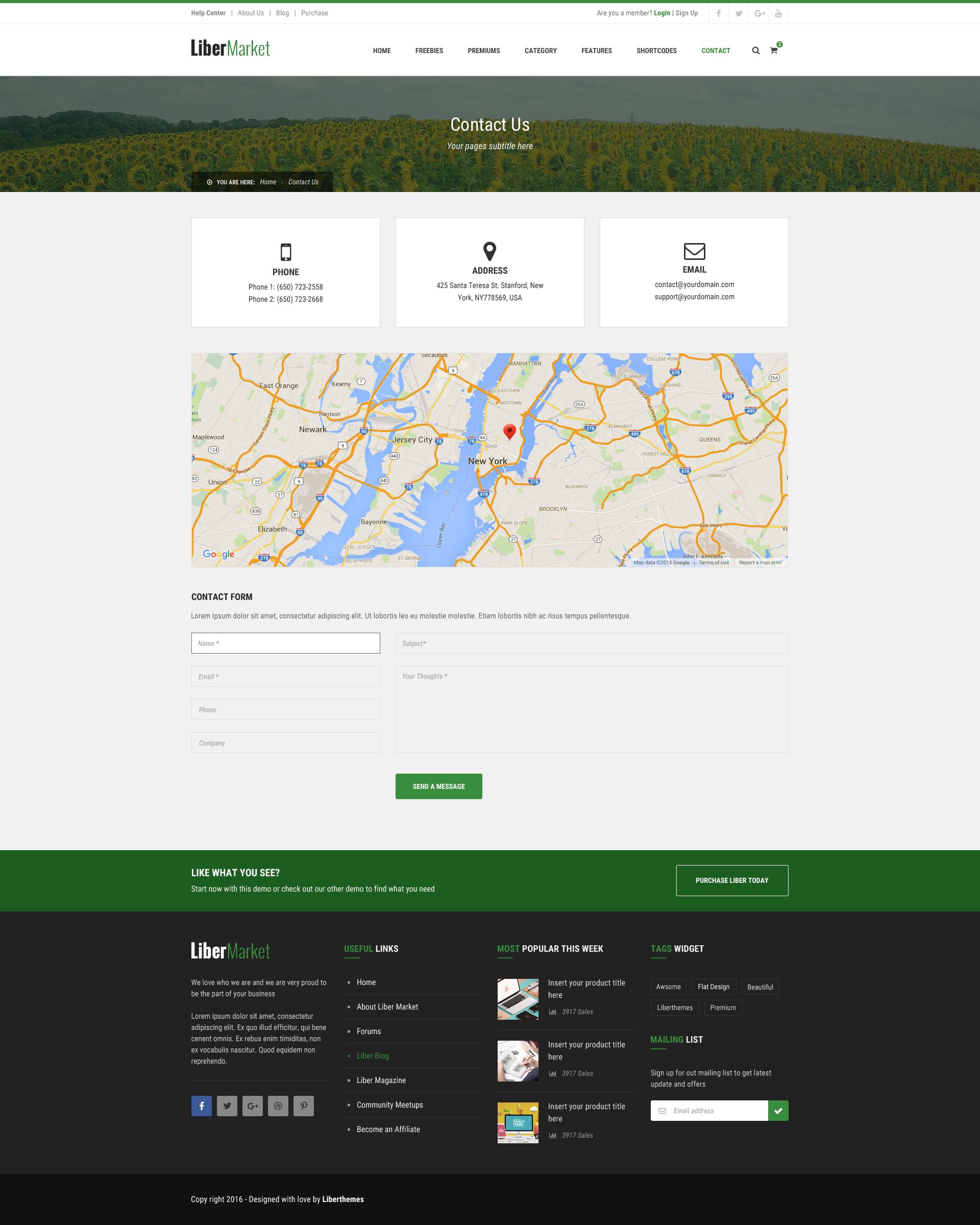 Libermarket Marketplace For Easy Digital Download Psd Template Psd Templates Templates Psd
