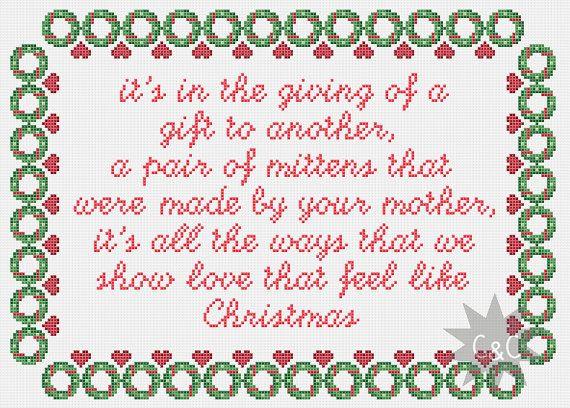 Muppet Christmas Carol Song Lyrics Cross Stitch Sampler Pdf