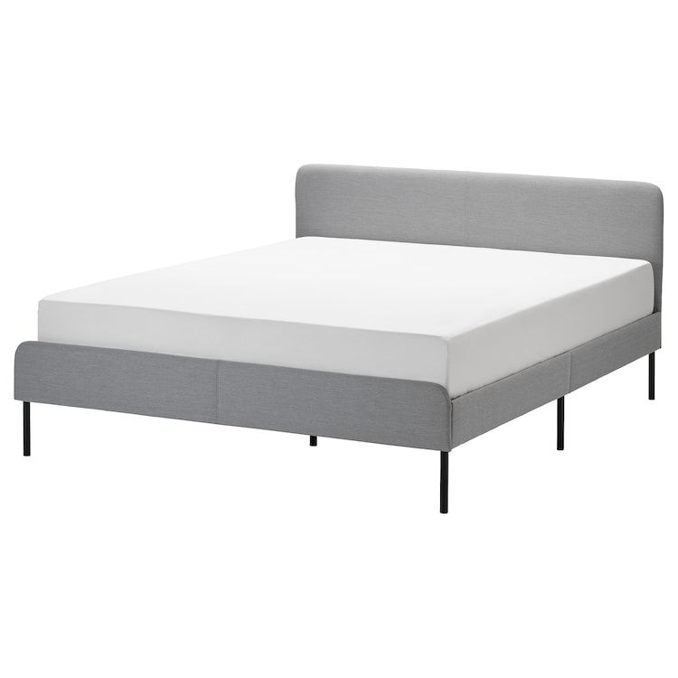 Slattum Upholstered Bed Frame Knisa Light Gray Full In 2020
