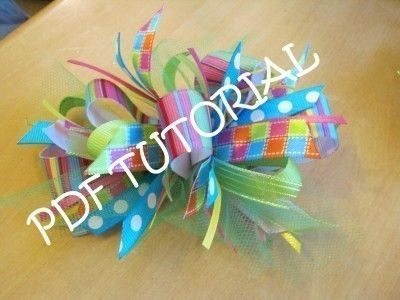 How to make Loopy Bows- PDF eBook by Amore, Angel