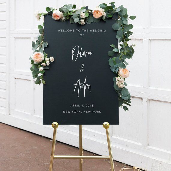 Custom Wedding Welcome Sign, Personalized Welcome Wedding Sign, Large Ceremony Sign, Reception Welcome Sign, Welcome Sign for Wedding, 08