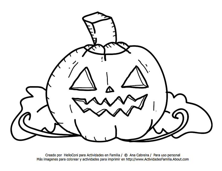 10 Dibujos de Halloween para imprimir y colorear: Calabaza Para ...