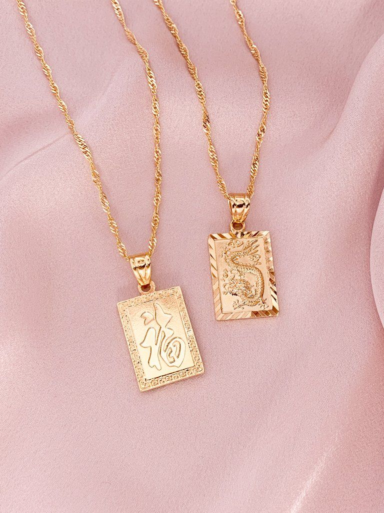 """Cross Pendant Necklace 18K Yellow Gold Filled Lucky Link 18/""""Chain Jewelry"""