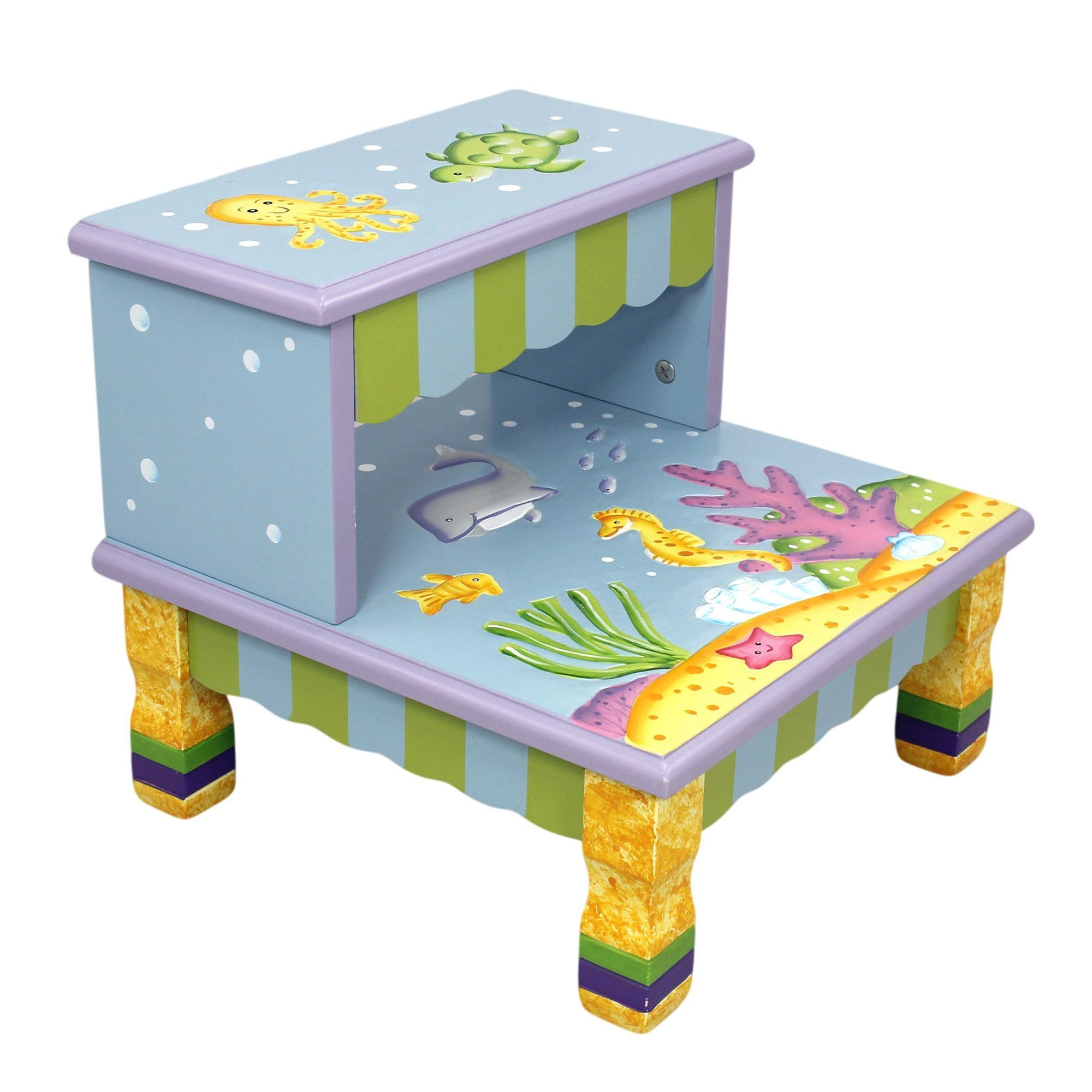 Under The Sea - Step Stool with Storage | Products | Pinterest ...