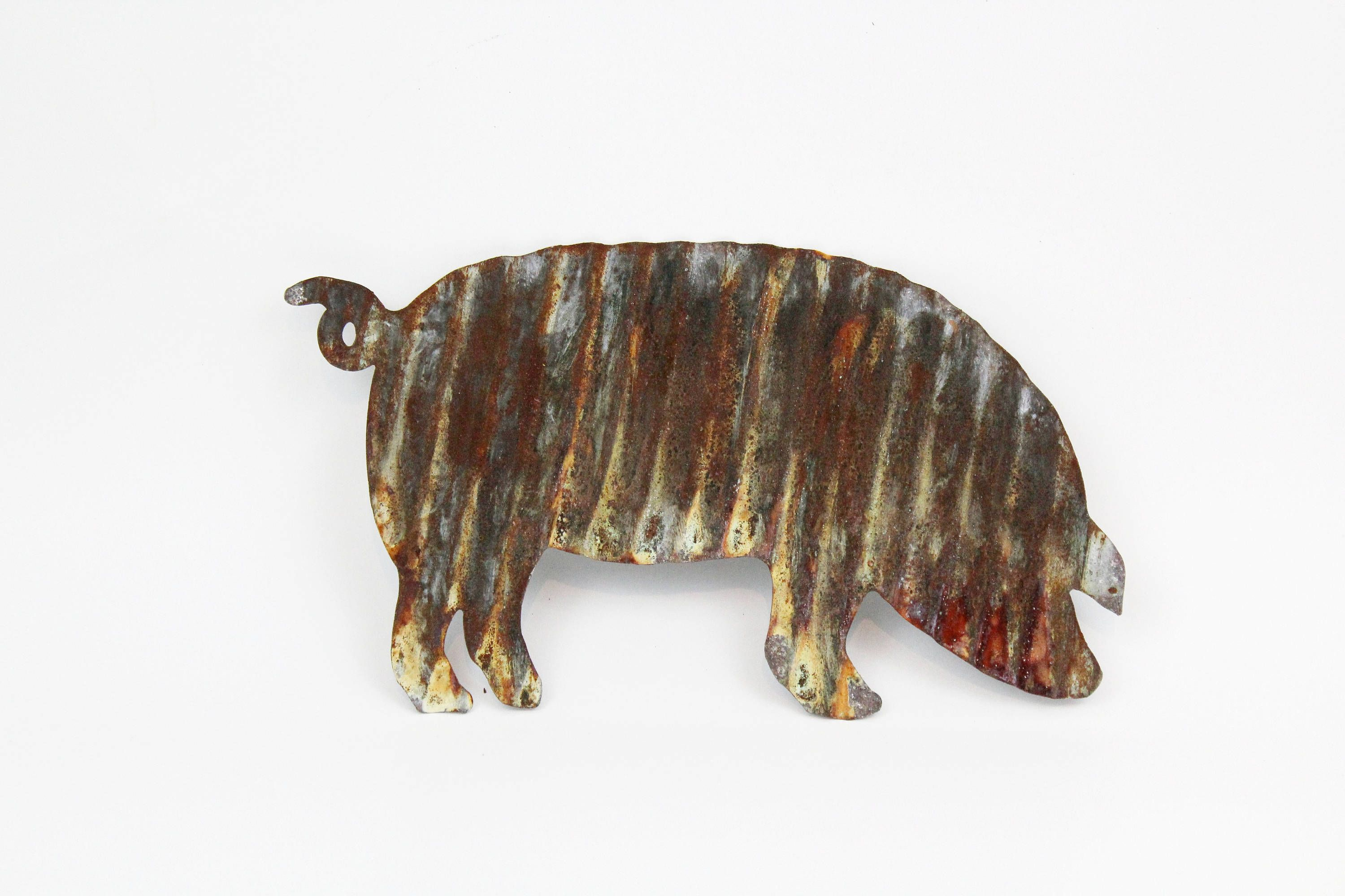 Rustic Decorgalvanized Metal Pig Rustic Kitchen Etsy In 2021 Kitchen Decor Etsy Farmhouse Wall Decor Rustic Kitchen Decor