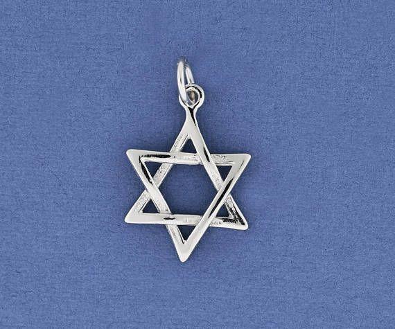 Tiny White Gold Jewish Star Jewish Jewelry Classic Star of Stars