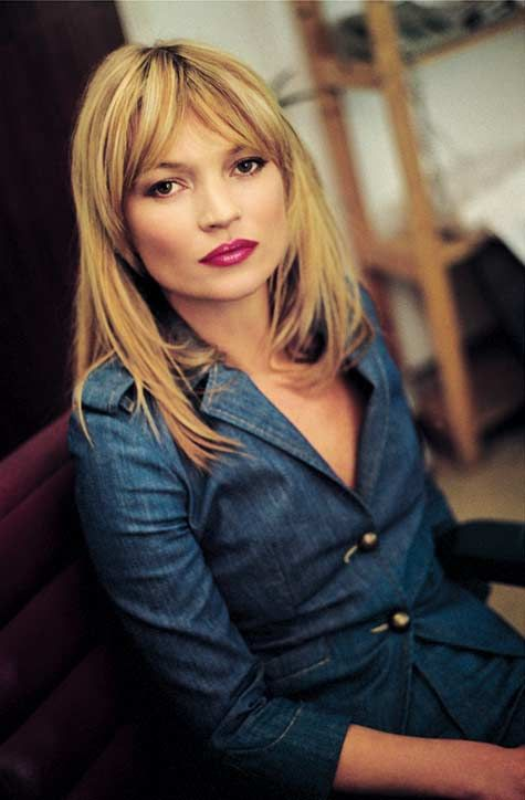 Vivie Mode Jean Chic Kate Moss Hair Blonde Fringe Hairstyle Examples