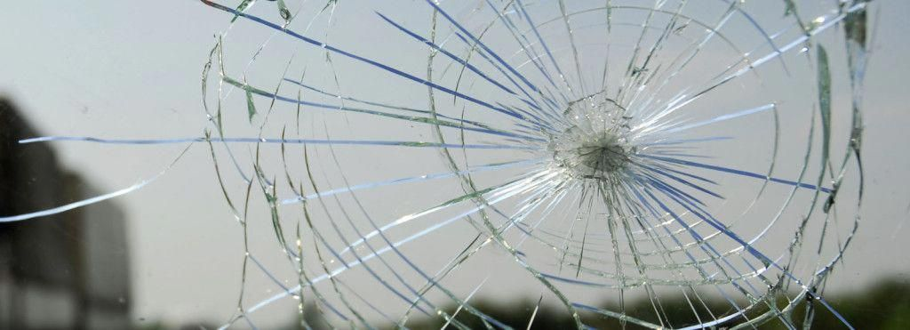 Driving with cracked or broken auto glass is the most
