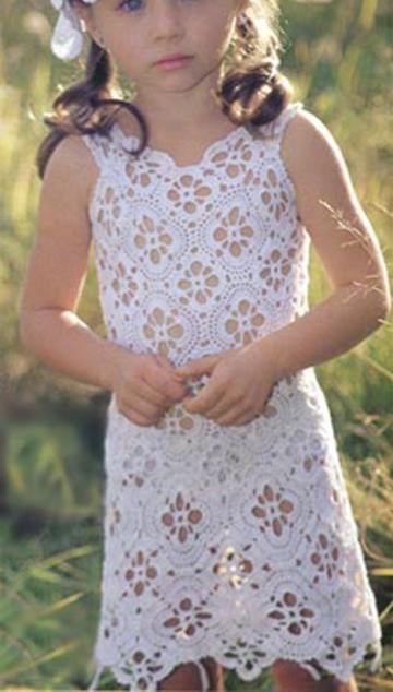 Free Crochet Cloth Patterns For Girls Little Girl Dress Patterns