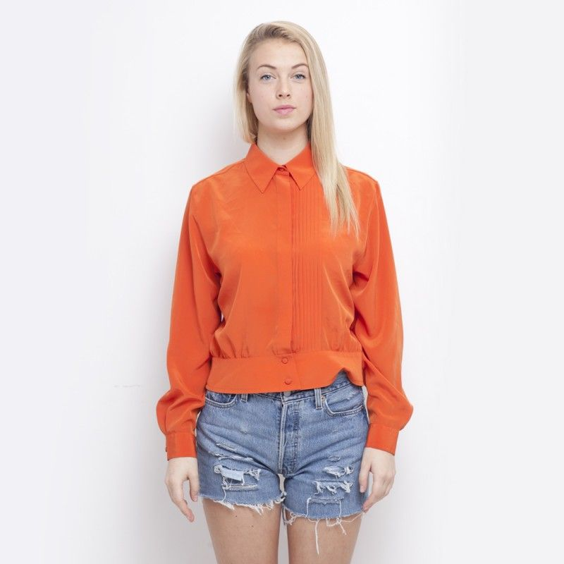 #OTFM - vintage og redesign på nett Emma pleated shirt