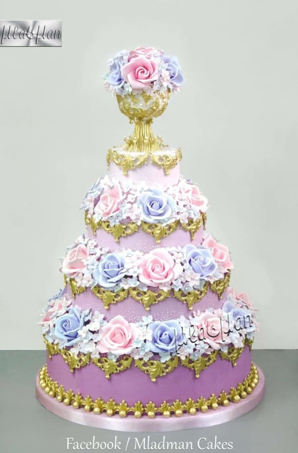 Pink & lilac roses cake  by MLADMAN