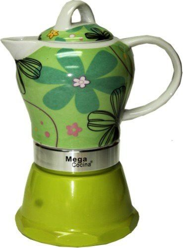 Espresso Cuban Coffee Maker 4 Demitasse Cups Color Lime