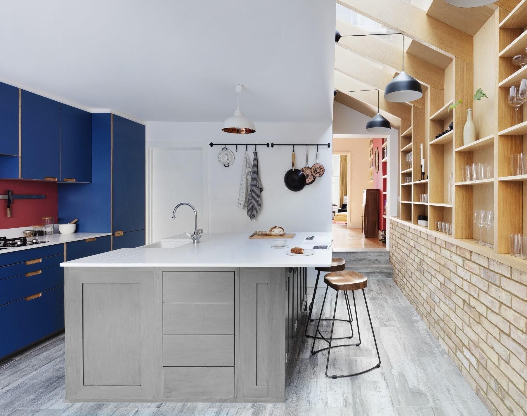 Bright and airy kitchen with modified IKEA in an