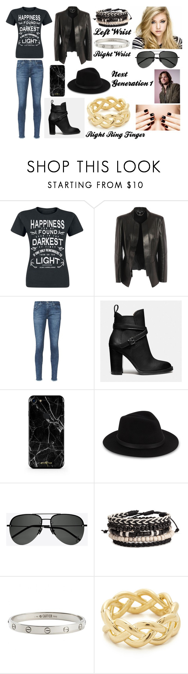 """Next Generation 1"" by giuly666 on Polyvore featuring moda, Alexander McQueen, AG Adriano Goldschmied, Coach, Saks Fifth Avenue, Yves Saint Laurent, Cartier, Soave Oro e jared"