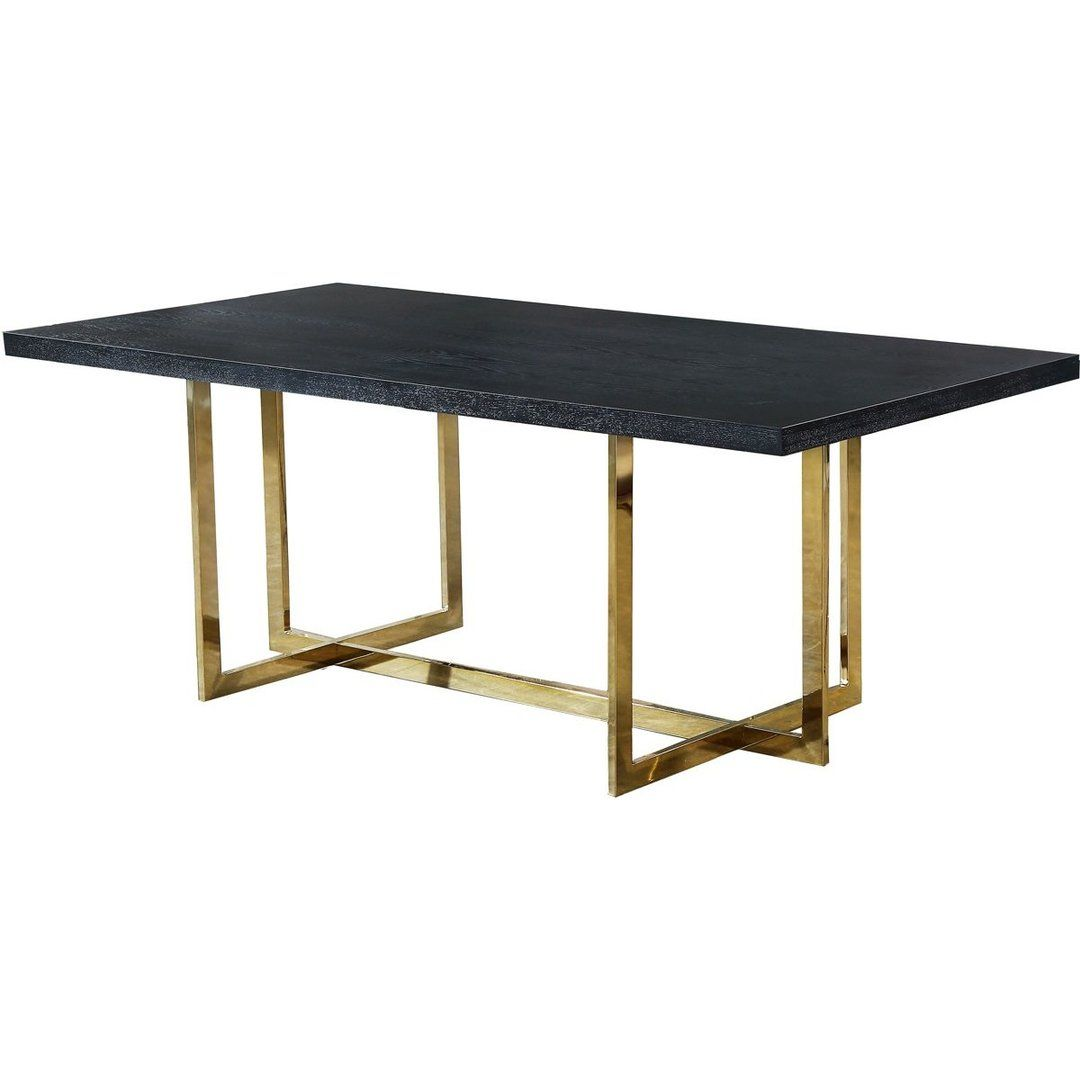 Meridian Furniture Elle Gold Dining Table Gold Dining Dining