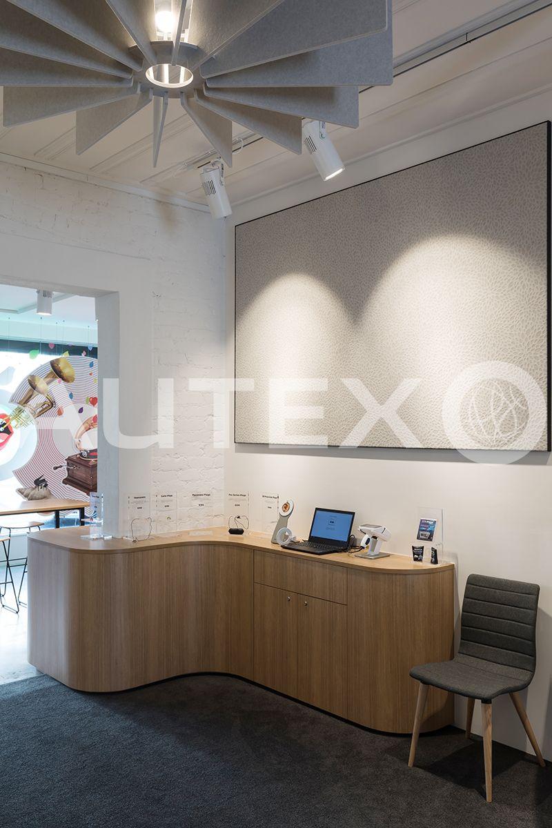 Autex interior acoustics quietspace lattice bay