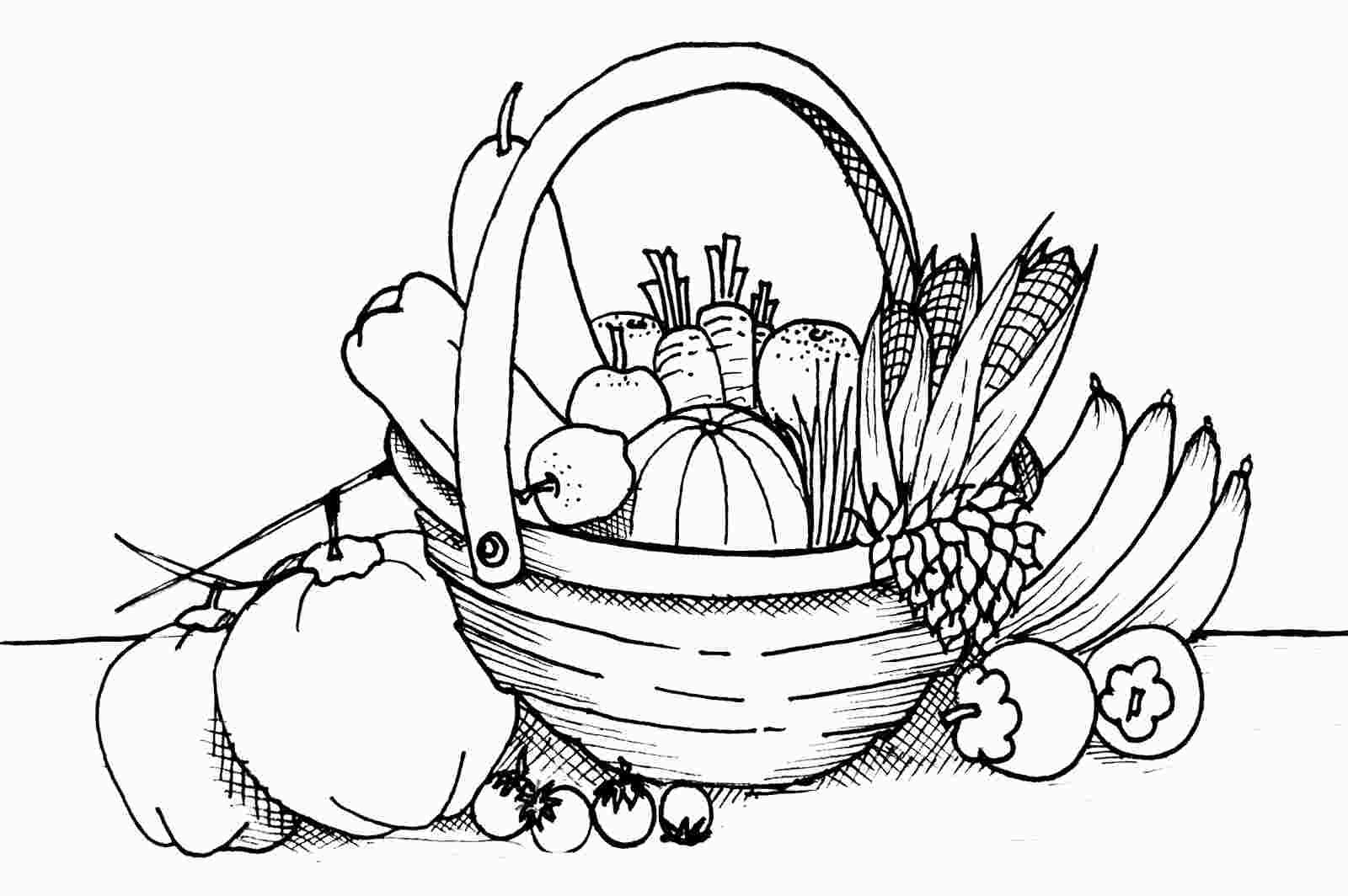 - Coloring Fruit And Vegetable Basket Fruit Coloring Pages
