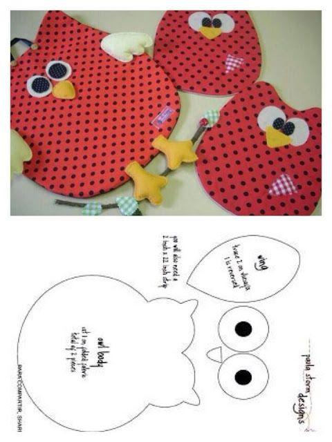 Eu Amo Artesanato: Bate-mão   owl projects   Pinterest   Molde, Peso ...