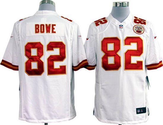 nike chiefs 82 dwayne bowe white mens nfl game jersey