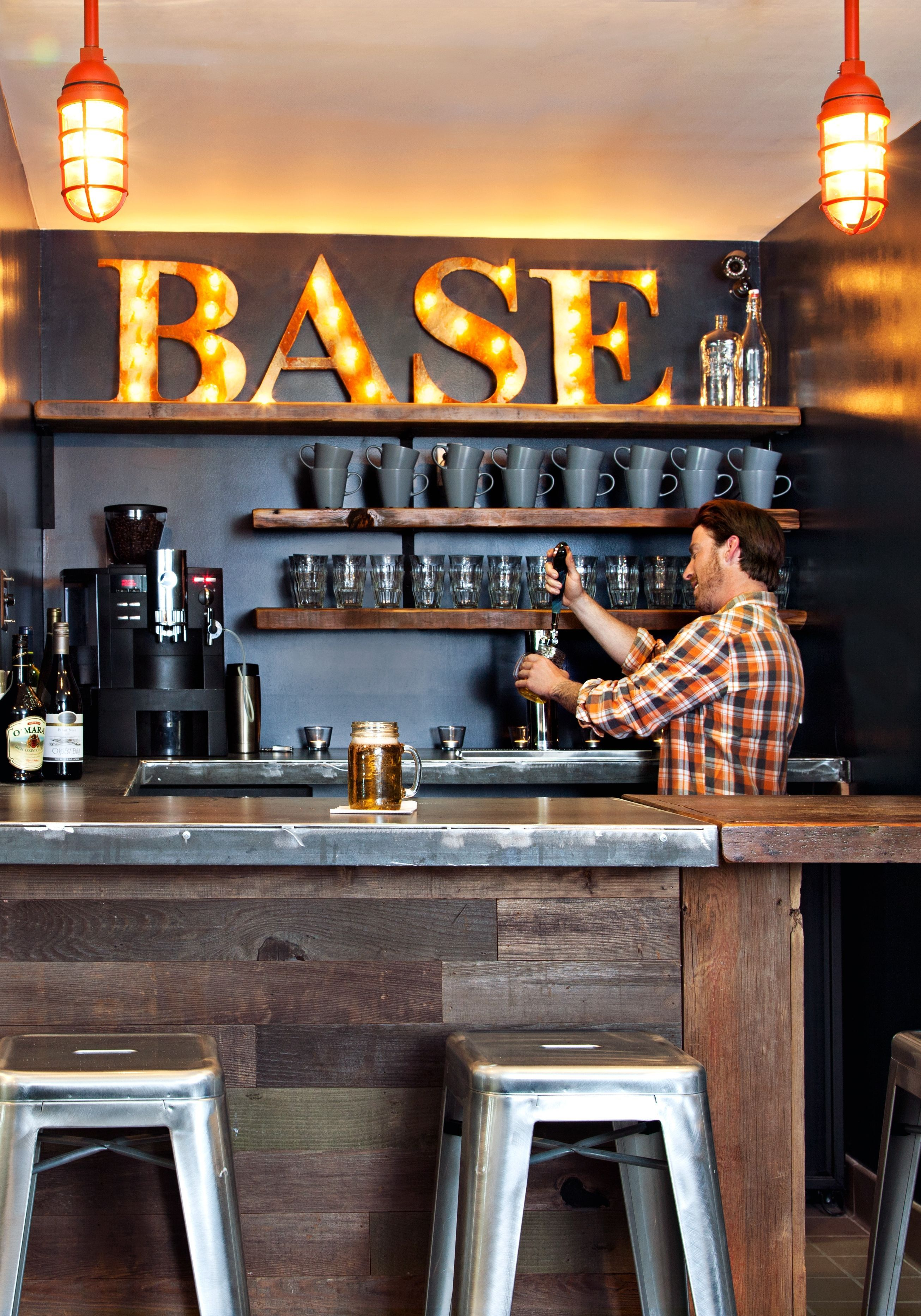 This Intimate Coffee Shop Slash Bar Is A Cozy Spot To Mingle And  # Muebles Huguito