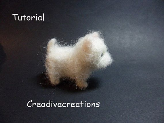 Tutorial needle felted dog West Highland by Creadivacreations