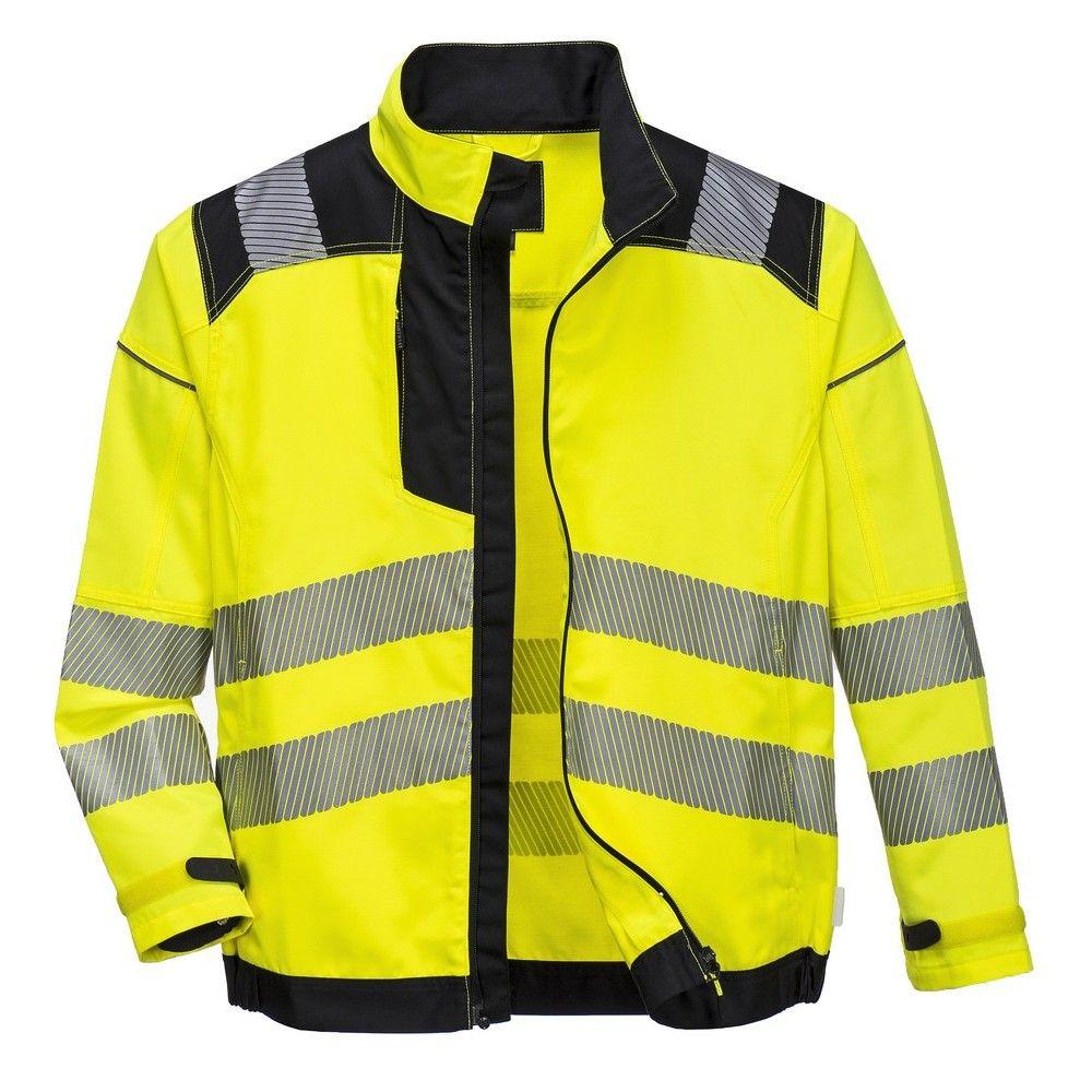 c49a11e80ee Chaqueta Vision alta visibilidad Amarilla/Negra. | Ropa de trabajo ...