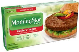 You can still get great grilled burger flavor in a completely animal-free veggie burger. Here's proof. *MorningStar Farms® Grillers® Vegan Burgers contain 84% less fat than regular ground beef. Regular ground beef contains 15g total fat per serving (71g). MorningStar Farms® Grillers® Vegan Burgers contain 2.5g total fat per serving (71g).