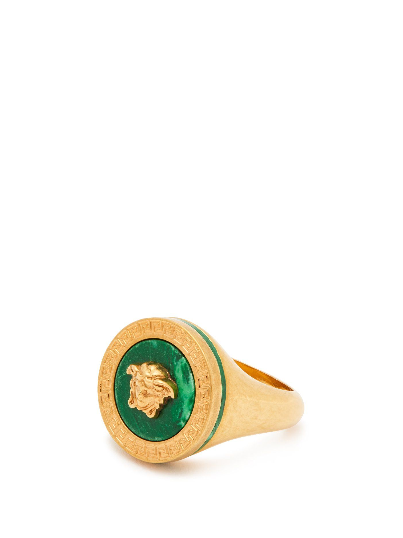 f31ef678db Tribute signet ring | Versace | MATCHESFASHION.COM UK | Cufflinks in ...