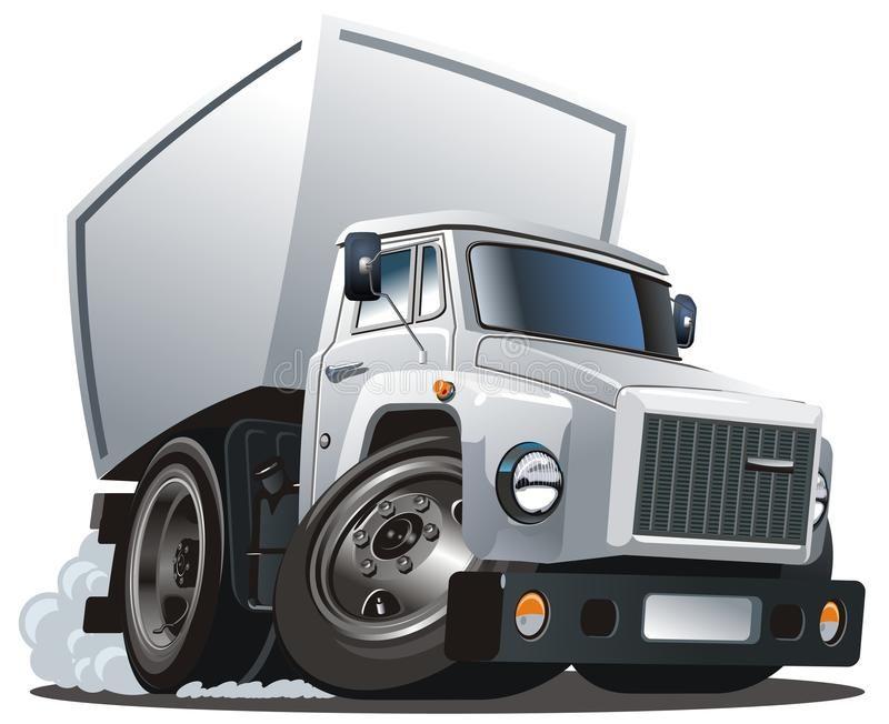 Vector Cartoon Delivery Cargo Truck Available Ai 10 Vector