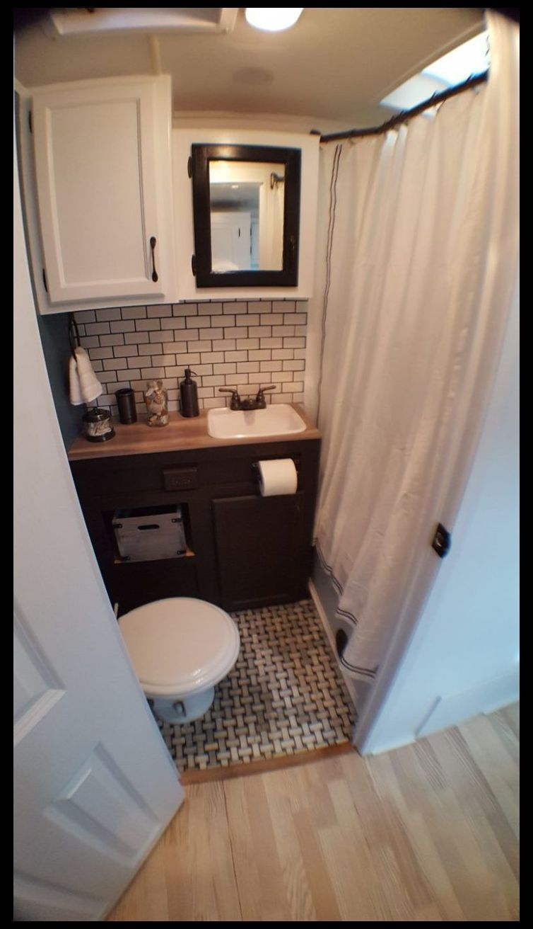 Camper Remodel Ideas 7 Small Bathroom Layout With Tub And Shower Bathroom Remodel Diy Home Remodeling B In 2020 Camper Bathroom Remodeled Campers Camper Makeover