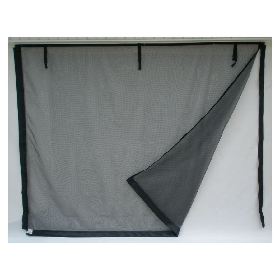 Shop Fresh Air Screens 167 Series 192 In X 84 In Double Garage Door