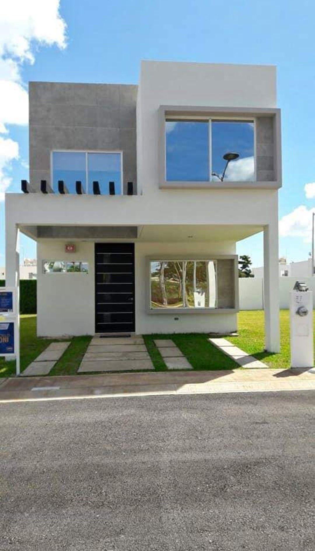 Arquitetura decoracao en 2019 fachadas casas for Casas dos pisos modernas