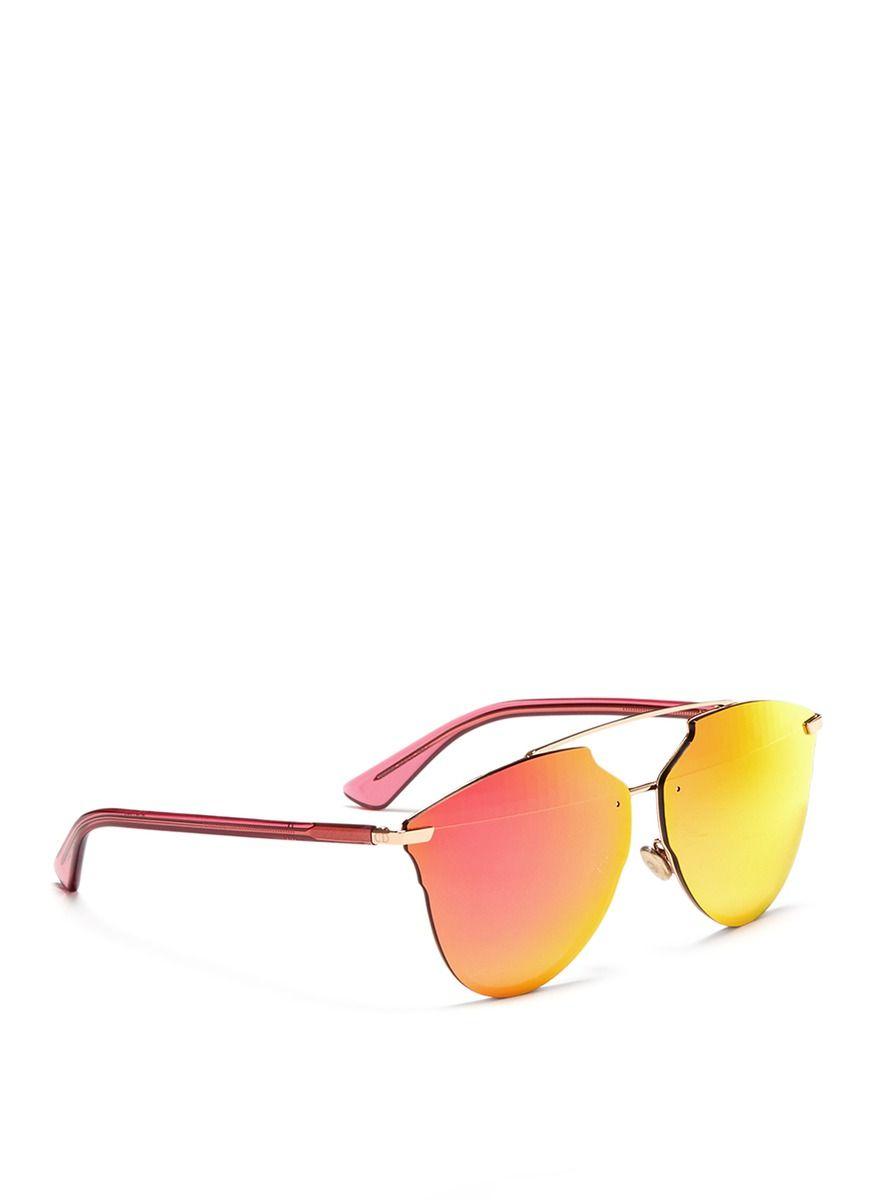 dba77e129dc2 Dior -  dior Reflected  Prism Effect Mounted Mirror Lens Sunglasses