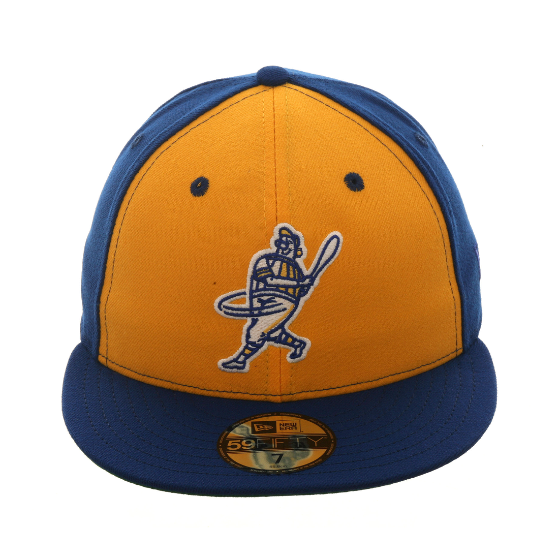 bcc9bb5f00a Exclusive New Era 59Fifty Milwaukee Brewers Barrel Man Rail Hat - Gold