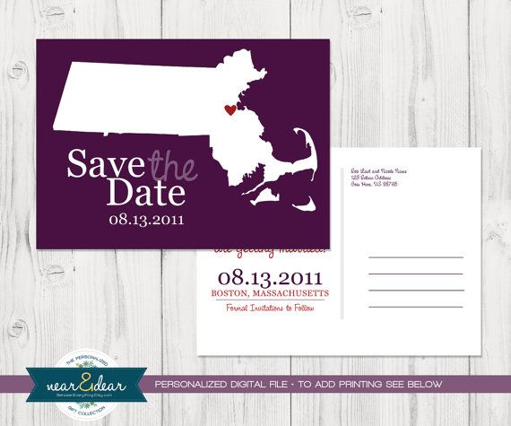 Save the Date : Custom Wedding Location and State Map Postcards - Any State or Country Available on Etsy, $29.00