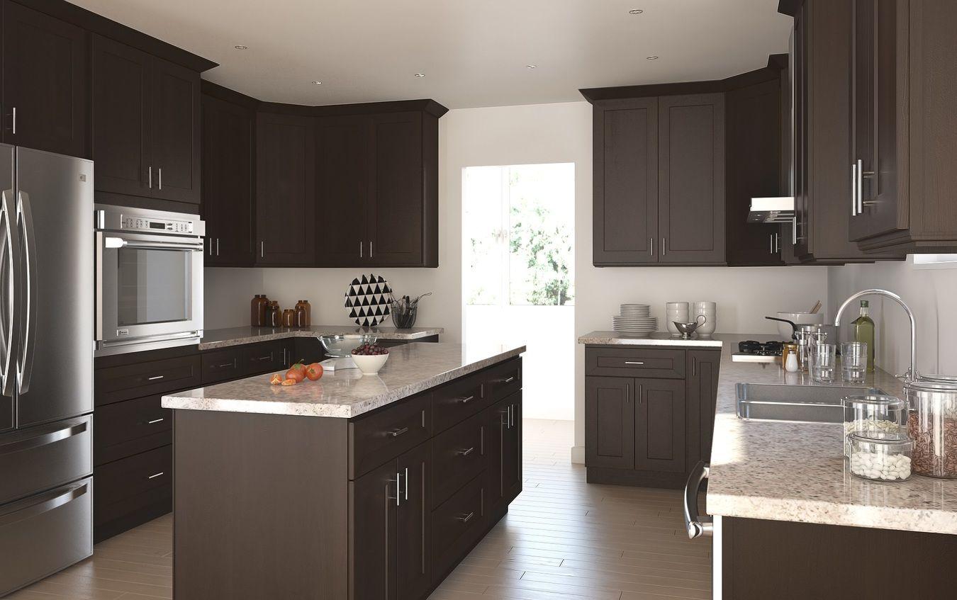 Dark Chocolate Shaker Ready To Assemble Kitchen Cabinets Kitchen Cabinets Wohnen Kuchenschrank Griffe Zimmer