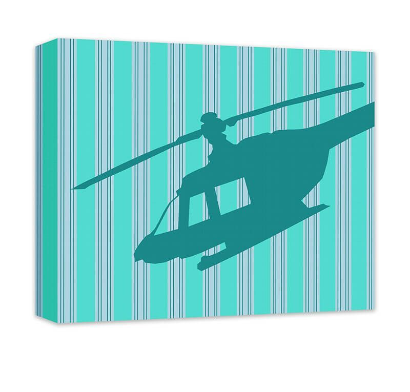 Helicopter Children's Canvas Wall Art